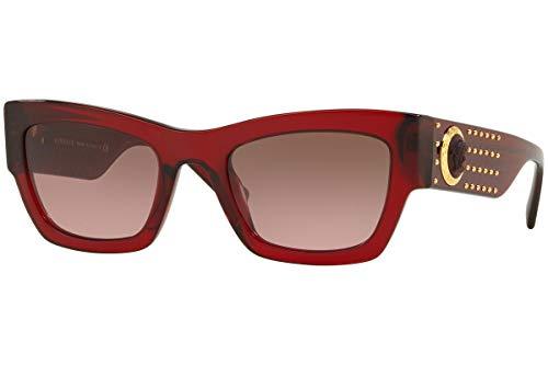 Versace 529714 Gafas de sol, Transparente Red, 52 para Mujer