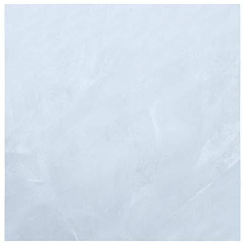 vidaXL Laminat Dielen Selbstklebend Schimmelbeständig Antiallergen Bodenbelag Vinylboden Fußboden Designboden 5,11m² PVC Weißer Marmor