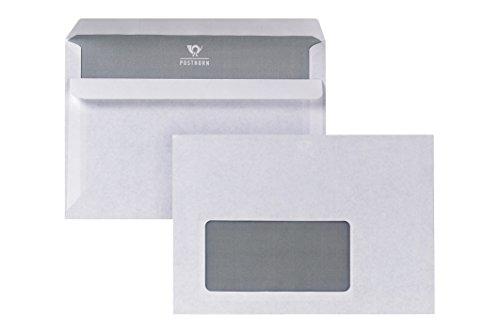 POSTHORN Briefumschlag C6 (114x162mm) selbstklebend mit Fenster weiß 75g  1000 Stück