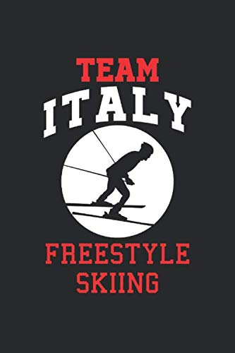Team Italy Freestyle Skiing: Cool Animated Design For Ski Player Athletes Lover Any Occasion Notebook Composition Book Novelty G