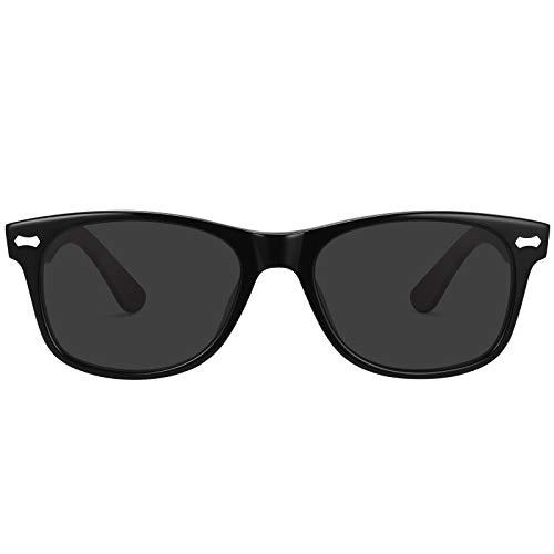 TSEBAN Retro Polarisierte Sonnenbrille für Damen und Herren, UV400 Fahren Outdoor Schutzbrille mit Acetat-Rahmen