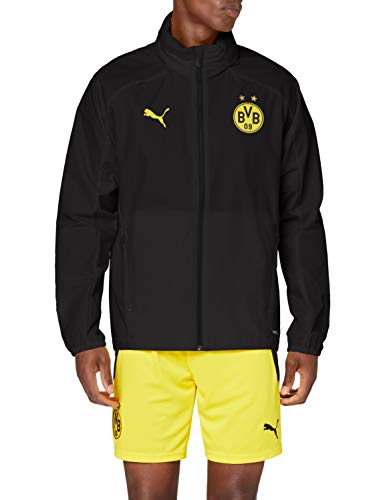 PUMA Herren BVB Rain Jacket Regenjacke, Asphalt-Cyber Yellow, XL