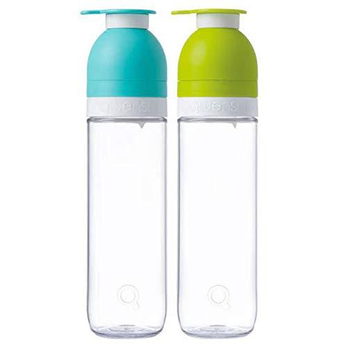 Botella reutilizable ecologica de agua y frutas