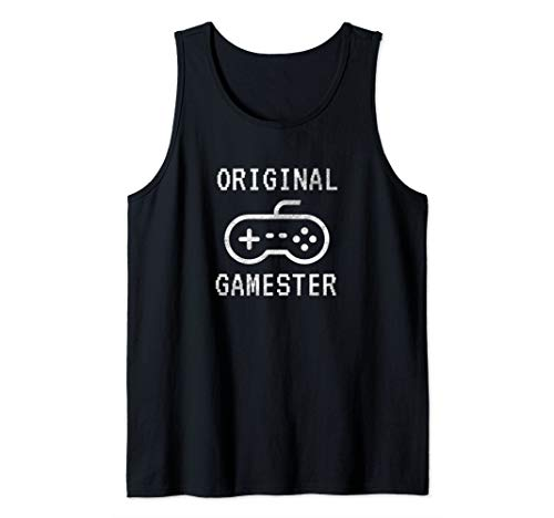 Original Gamester with Video Game Controller Tank Top