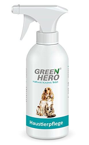 Green Hero Haustierpflege für Hunde und Katzen Pflegt bei Juckreiz Milben Floh Pilz Reizungen 500ml