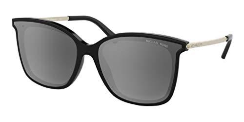 Michael Kors MK2079U ZERMATT Square 333282 61M Black/Silver Grey Gradient Mirror Polarized Sunglasses For Women+FREE Complimentary Eyewear Care Kit