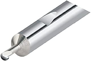 0.050 Projection 0.260 Minimum Groove Diameter Solid Carbide Tool 2.5 Overall Length 0.030//0.032 Groove Width 0.250 Shank Diameter Micro 100 FG-250-030 Right Hand Face Grooving Tool