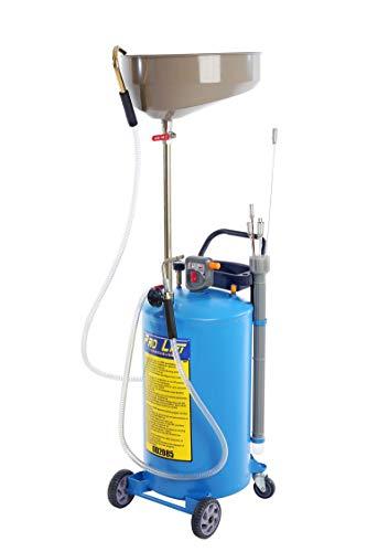 Pro-Lift-Werkzeuge Ölauffangwagen 65 Liter pneumatisch Ölabsauggerät Altöl-Auffanggerät inkl. 6 Stück Absaugsonden