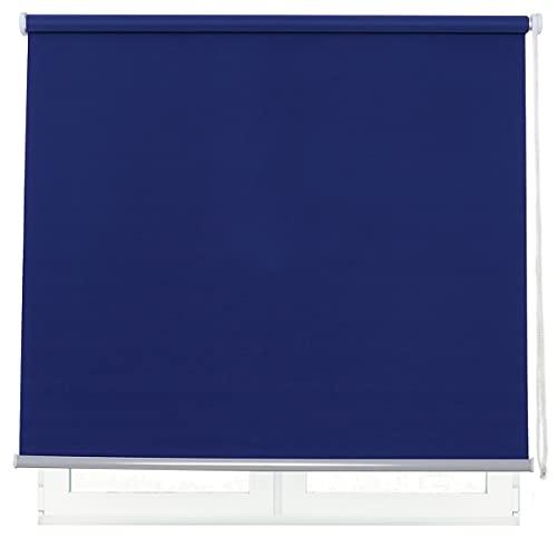 DALINA Estor Enrollable para Ventana Translúcido Liso de Poliéster (Azul,60x180cm)