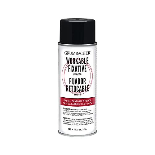 Grumbacher 546 11-3/4-Ounce Workable Fixative Spray, 11-3/4-Ounce Can