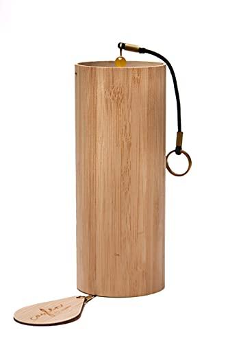 Caylen® Windspiel 4seasons SUMMER (Sommer) , meisterhaft gefertigtes Klangspiel aus Bambus inkl. praktischer Segeltuchtasche