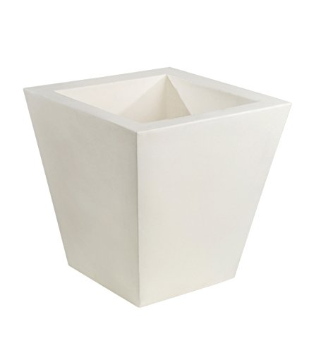 Vondom 41140 Maceta Cono cuadradode40 x 40 x 40 cm, Simple, Color Blanco, 37x37x37 cm