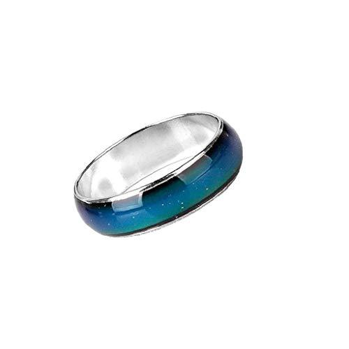 Emoción ambiente mágico propio anillo de humor cambiable del color de la aleación del anillo de cambio de color de dedo de la joyería del anillo de la joyería de moda Hombres Mujeres exquisito