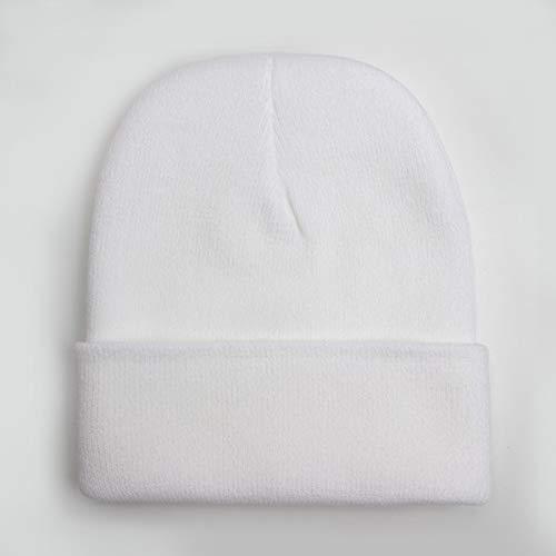 Hombres de Moda Mujeres Sombrero de Punto Patrón de Moda Bordado Esquí Cálido InviernoBeanie Skullies Cap-WH