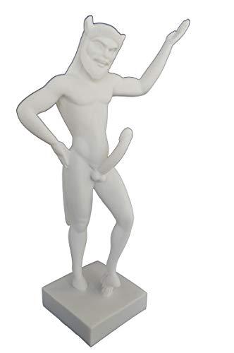 Talos Artifacts Satyr-Skulptur, antikes griechisches Mythik-Kreatur, große Statue