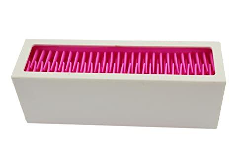 Speed mao シンプル 可愛い メイクブラシスタンド ホルダー ネイルブラシ ペン立て WHITE