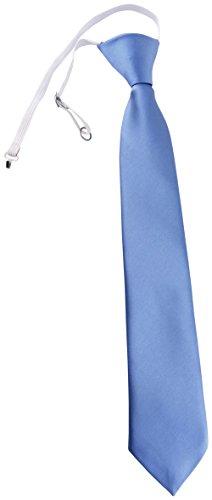 TigerTie Security Sicherheits Krawatte in blau Uni einfarbig - vorgebunden Gummizug
