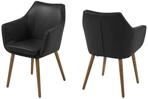 Marca Amazon - Movian Silla Trine de Madera, Negro, 58 x 58 x 84 cm