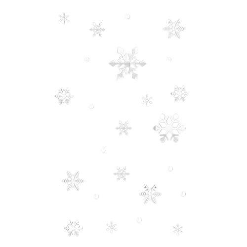 AKAIDE Deko-Aufkleber, abnehmbar, Wandbefestigung, Schneeflocke, Kunst, Heimdekoration, Wohnzimmer, Schlafzimmer, Schaufenster, Glasspiegel, dekorativ, Gold/Silber, PVC, silber, einheitsgröße