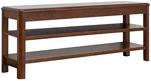 Zapatero zapato de madera maciza Banco de 3 capas desmontable estante del armario Banco zapato dormitorio 150 kg de estar Sala de soporte de peso Corredor ( Color : Walnut Color , Size : 100cm/39in )