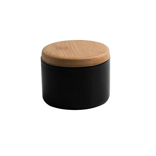 Cenicero de cerámica retro con tapa, ceniceros a prueba de viento para cigarrillos, cenicero de cigarrillos para el hogar o al aire libre, cenicero de cemento, el mejor regalo-negro
