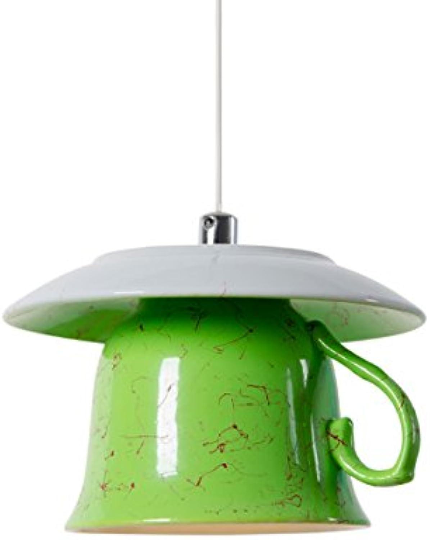 FRTEJ Kreative LED Ceramic Ceramic Ceramic Cup Kronleuchter ...