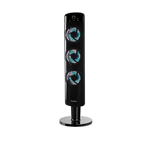 Klarstein Skyscraper Tri-Air - Summer Edition, Ventilatore a colonna, 630m³ / h, 59dB, 40W, Timer, Oscillatore Opzionale a 80 °, Inclinazione, Telecomando, Design verticale, Nero