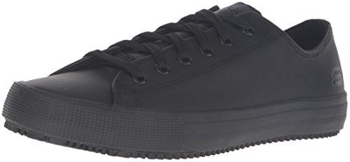 Skechers womens Arispel Work Shoe, Black Leather, 7 US