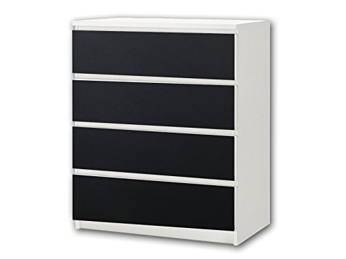 Stikkipix Kreidefolie/Tafelfolie - KF08 - passend für die Kommode mit 4 Fächern/Schubladen MALM von IKEA - Bestehend aus 4 passgenauen Kinderzimmer Kreidefolien (Möbel Nicht inklusive)