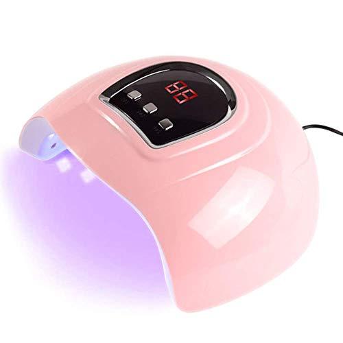 Anself 54W Secador de Uñas de Gel Lámpara LED UV Uñas Máquina de Curado, 3 modos de tiempo 30/60/90 Segundos USB Lámpara de Luz LED para Manicura y Pedicura, Rosa