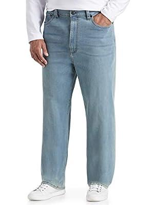 Amazon Essentials Men's Big & Tall Loose Stretch Jean fit by DXL, Light Vintage, 44W x 28L