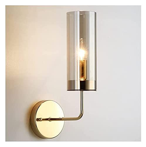 JNWEIYU Lámpara de Pared Interior Lámparas de Pared Modernas Minimalista Latón Color Vidrio Pared Luz Corredor Aisle Sala de Estar DIRIGIÓ LIGERSE Hotel DORMED Light E14