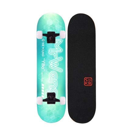 IDE Play Kateboard Deck, Erwachsene Kinder Skateboard, Komplettboard 7-Schicht 88A Hard Maple Deck, 31 x 8 lnches für Teens Anfänger,Style b