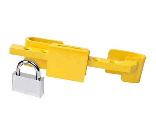 Invero Container-/LKW-Anhängerschloss – Hochsicherheitsschloss aus gehärtetem Stahl mit Sicherheits-Vorhängeschloss und 4 Schlüsseln im Lieferumfang enthalten