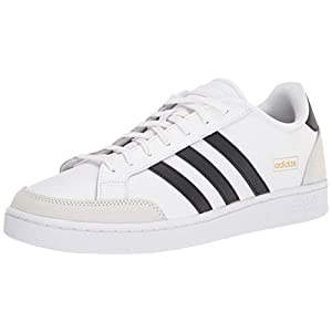 adidas Men's Grand Court SE Tennis Shoe, White/Black/Orbit Grey, 10.5