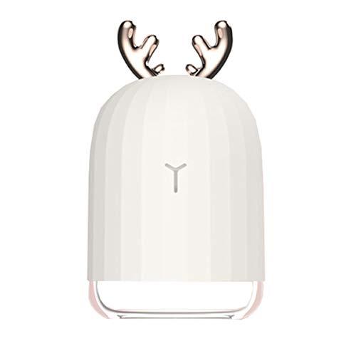 Diffuseur d'Huiles Essentielles 200ml Humidificateur d'air Ultrasonique Brume Fraîche Arôme de Parfum Electrique avec - SPA/Massage/Yoga/Maison/Bureau (White)