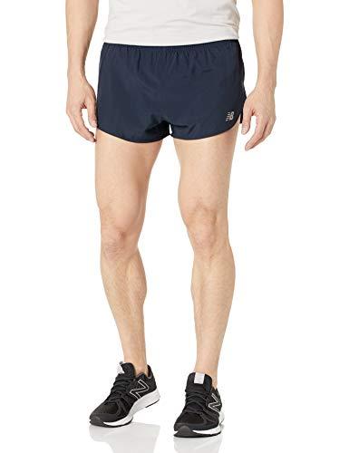 New Balance Accelerate Pantalón Corto para Hombre de 3 Pulgadas Dividido, Acelera la división de 3 Pulgadas, Hombre, Color Morado, tamaño Medium