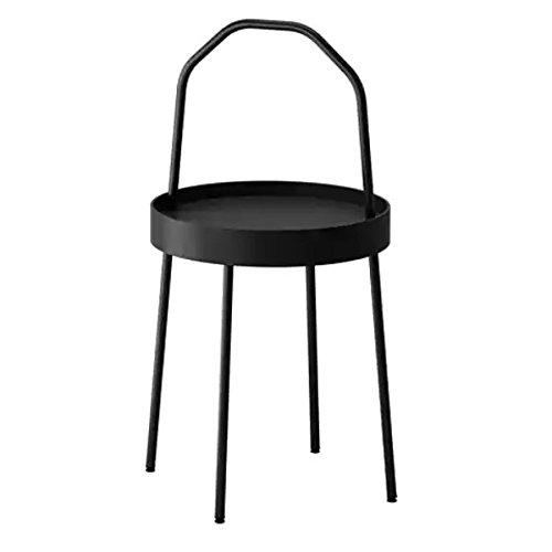 BURVIK IKEA stolik pomocniczy w kolorze czarnym; (38 cm)