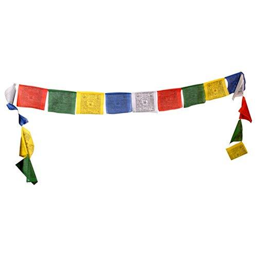 Tibetische Gebetsfahnen mit 10 Fahnen - 9x9 cm