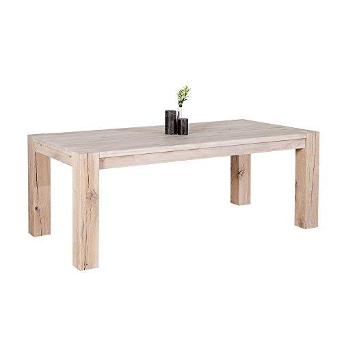 Invicta Interior Massiver Esstisch WILD Oak 240 cm weiß gekälkt Made in EU Tisch Holztisch Massivholz