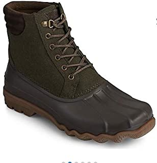 Sperry Men's Avenue Duck Wool Rain Boot (Olive, Numeric_11_Point_5)