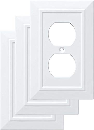 Franklin Brass W35242V-PW-C Classic Architecture Single Duplex Wall Plate/Switch Plate/Cover (3 Pack), White