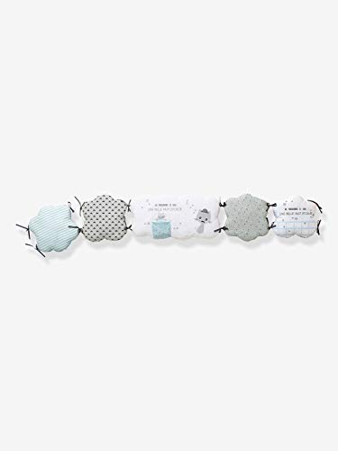 Vertbaudet Wolken-Bettumrandung für Babys grau/blau 180X30