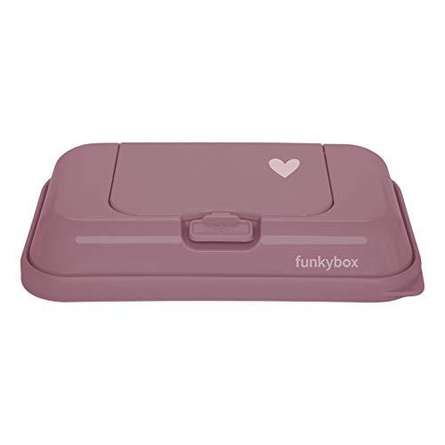 funkybox FBTG39 Feuchttücher-Aufbewahrungsbox für unterwegs funkybox ToGo - altrosa kleines Herz