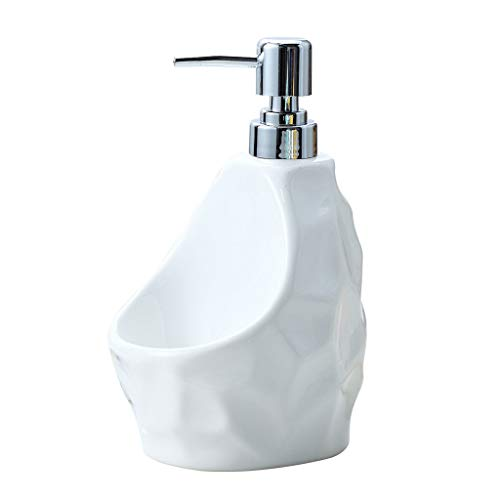Soap Dispensers Bottles 650 Ml Soap Dispenser Simple Creative Bathroom Ware Ceramic Emulsion Bottle Manual Dual-use Soap Dispenser Dispenser Pump Bottles - Dish Soap (Color : White, Size : 2Pack)