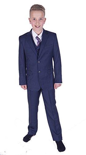Cinda Jungen Formale Blaue Anzüge Hochzeits-Seite-Jungen-Partei-Abschlussball 5 Stück-Klage
