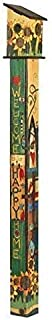Studio M Sing Out Loud Birdhouse Art Pole Wood-Grain Welcome Functional, Weather-Proof with Cleanout, Hardware Included, Easy Install, Made in USA, 6 ft Tall, Universal 1.5 Inch Entry