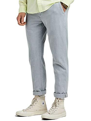 Scotch & Soda - Pantaloni da uomo Warren pietra 36W x 32L