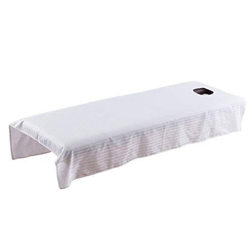 Générique Drap Housse de Protection en Coton pour Table de Massage 80 X 190 Cm - Blanc, 80 x 190cm