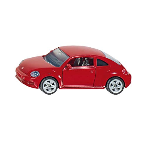 Siku 1417, VW The Beetle, Metall/Kunststoff, rot, Öffenbare Türen, Bereifung aus Gummi